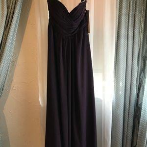 NEW strapless bill levkoff gown- plum